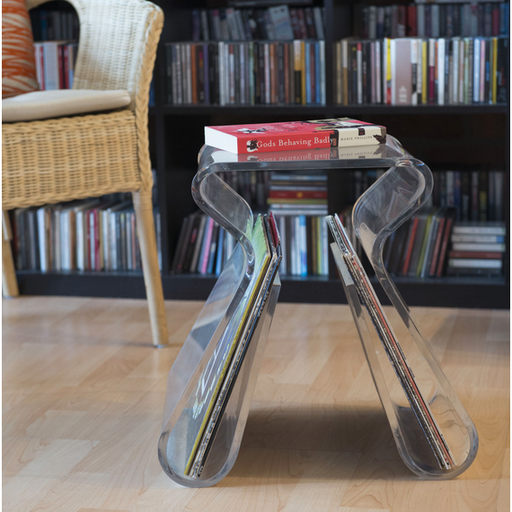 Magino Stool with Magazine Rack - Neat Space