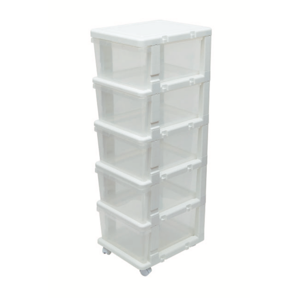 Link and Lock Expandable Drawer Unit 5 Tiers