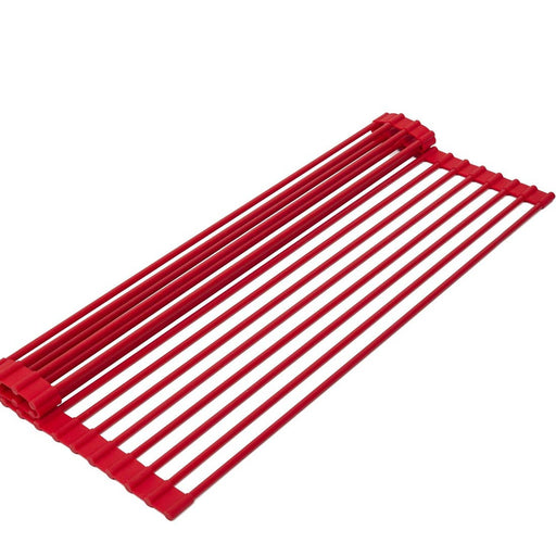 Roll Up Dish Drying Rack, Red