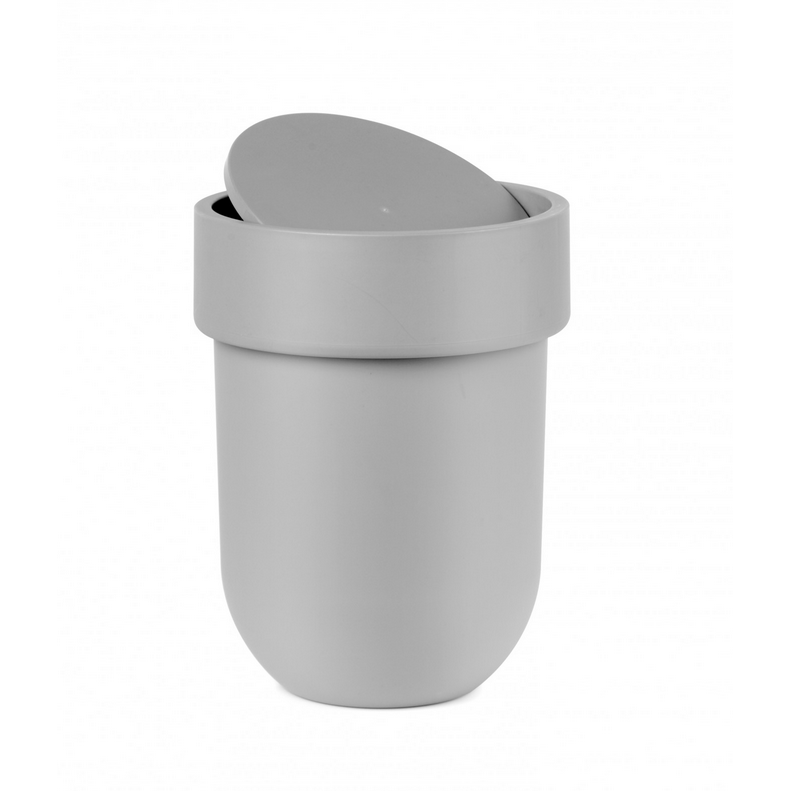 Touch Waste Can with Lid, Grey