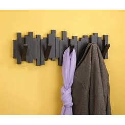 Sticks Wall Hanger, Black