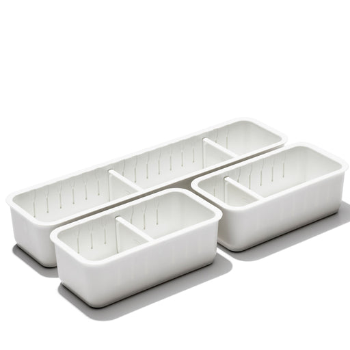 OXO 3pc Slim Adjustable Drawer Bin Set