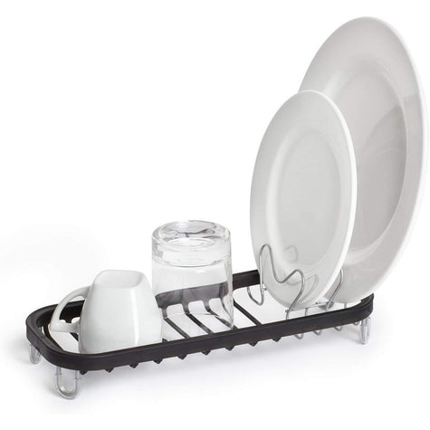 Mini Sinkin Dish Rack, Nickel/Black