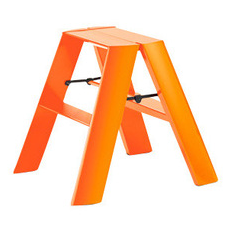 Lucano 2 Step Ladder Orange