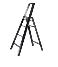 Lucano 4 Step Ladder Black - Neat Space
