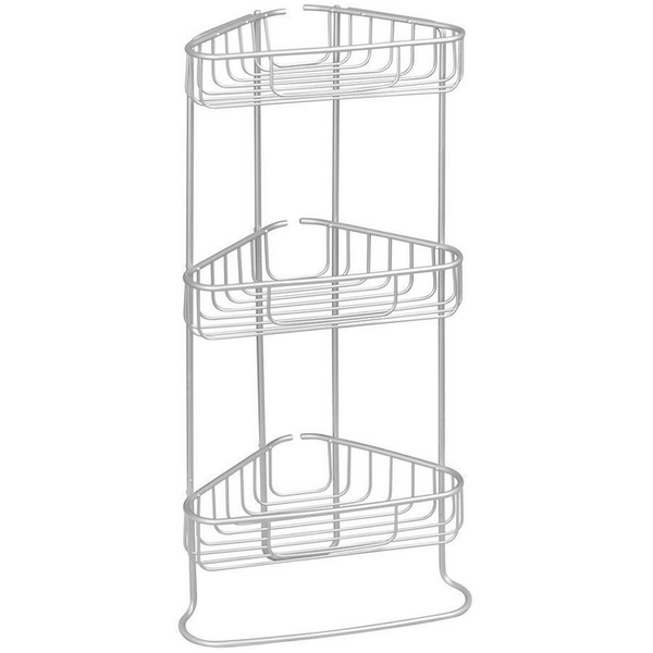 Metro Aluminum 3 Tier Corner Shower Caddy
