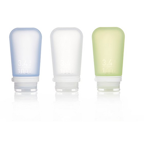 GoToob+, 3 Pack, Large, Clear/Green/Blue, 100ML, 3.4 Oz