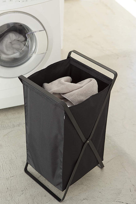 Tower Laundry Foldable Basket/Hamper, Black