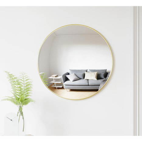 Convexa Wall Mirror Brass 24""