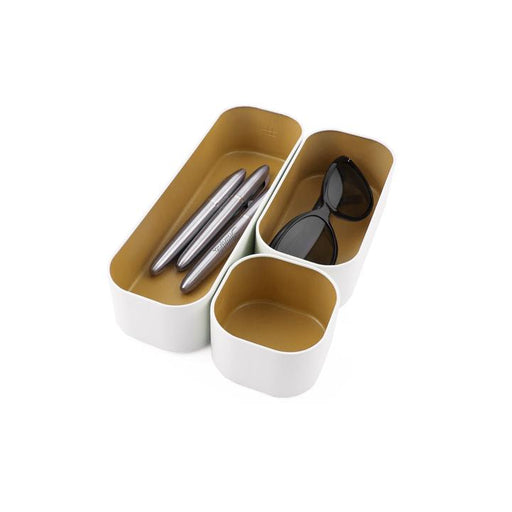 Stacking Bin - Set of 3 - Gold