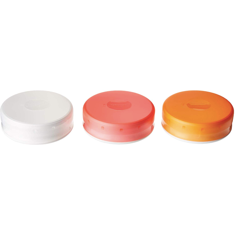 GoTubb 3 Pack Large, Clear Orange Red