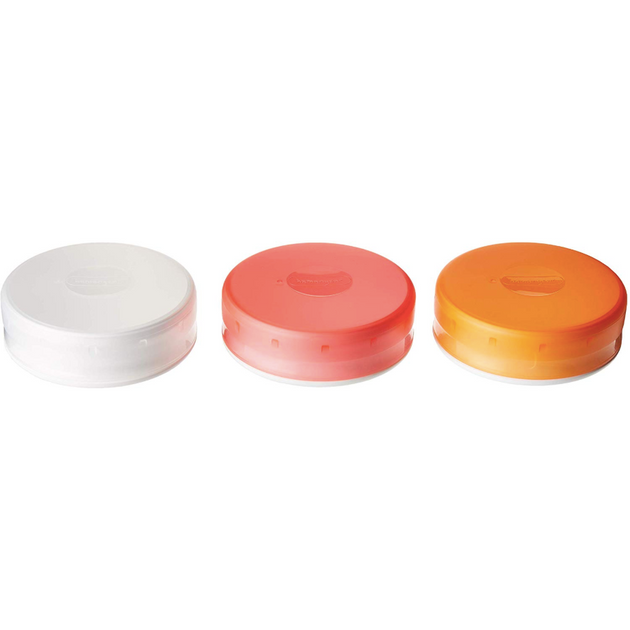 GoTubb 3 Pack Large, Clear Orange Red - Neat Space