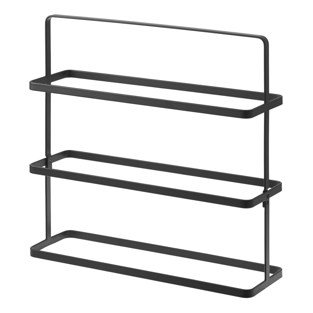 Tower Shoe Rack Wide - 9 Shoes, Black