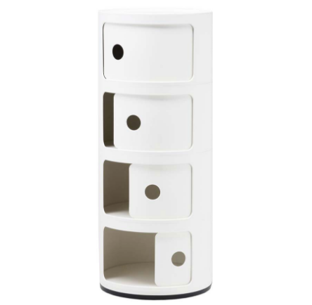 Kartell Componibili 4 Elements, White