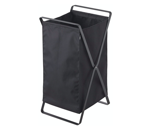 Tower Laundry Foldable Basket/Hamper, Black - Neat Space