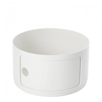 Kartell Componibili Round Small Element, White Matte