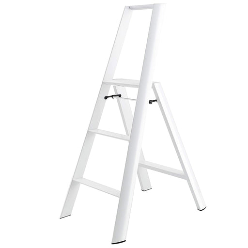 Lucano 3-Step Ladder, White