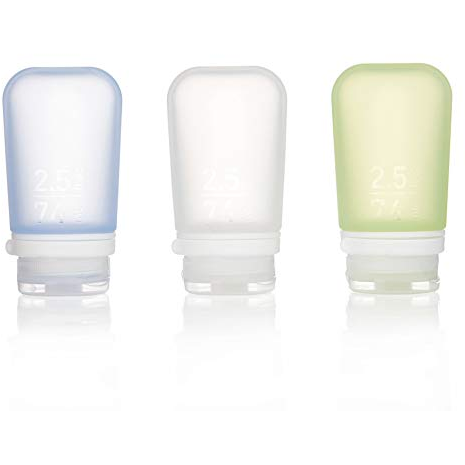 GoToob+ 3 Pack, Medium, Clear/Green/Blue, 74ML, 2.5 Oz
