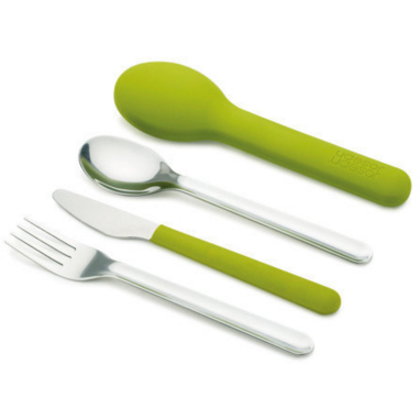 Joseph Joseph Go Eat Space Saving Cutlery Set, Lime Green