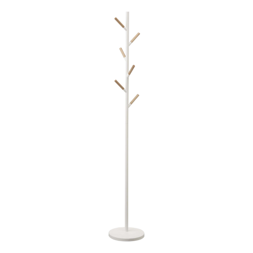 Plain Coat Rack/Hanger, White/Wood