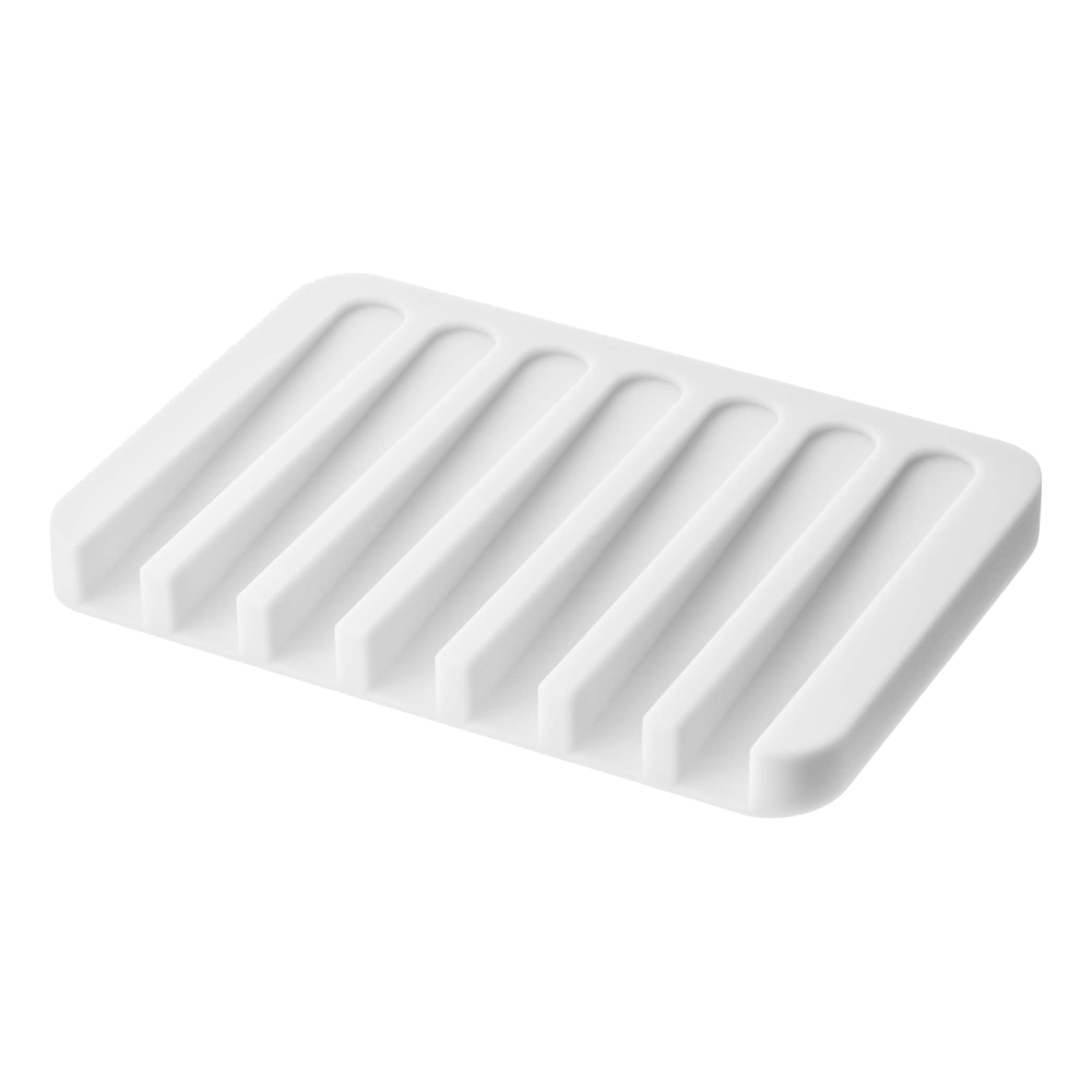 Flow Self Draining Soap Tray - White