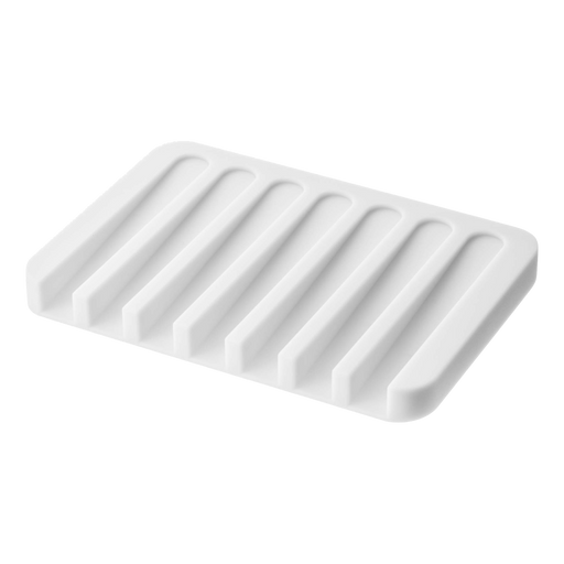 Flow Self Draining Soap Tray, White