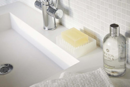 Float Self Draining Soap Dish Tray, Clear