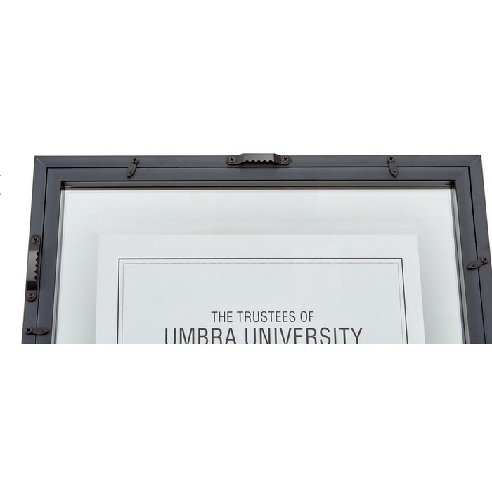 Document Photo Frame, Black 11X14""