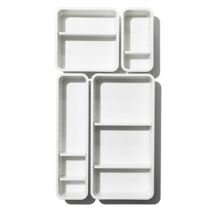 OXO 4pc Complete Adjustable Drawer Bin Set