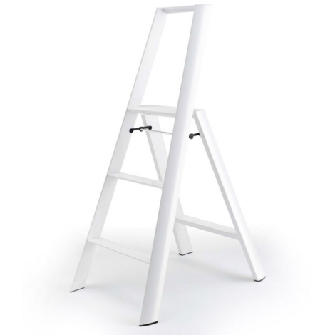 Lucano 3 Step Ladder White - Neat Space