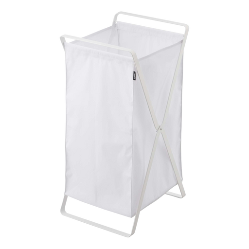Tower Laundry Foldable Basket/Hamper, White