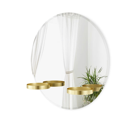 Perch Mirror - Brass
