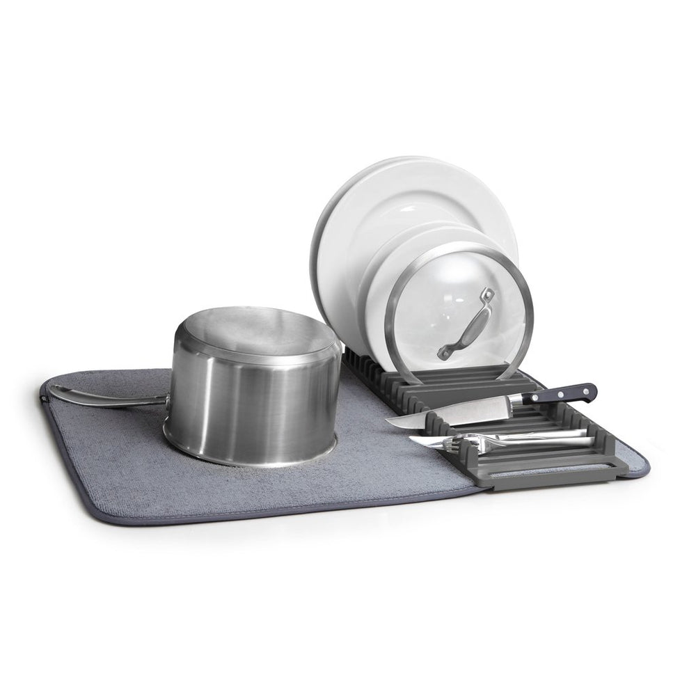 UDry Dishrack & Drying Mat - Charcoal