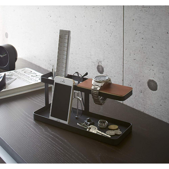 Tower Desk Accessory Bar, Black - Neat Space