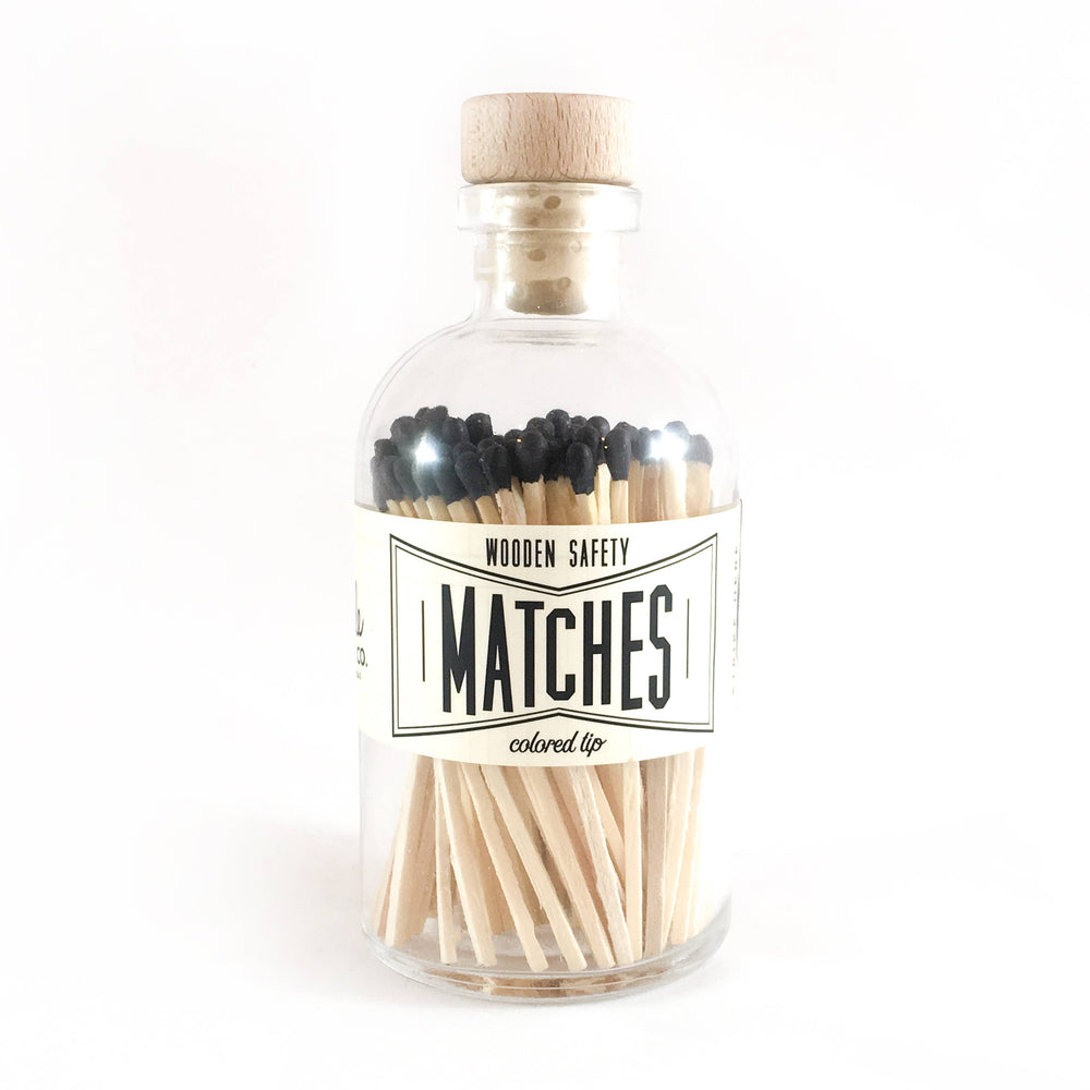 Black Vintage Apothecary Matches, Large