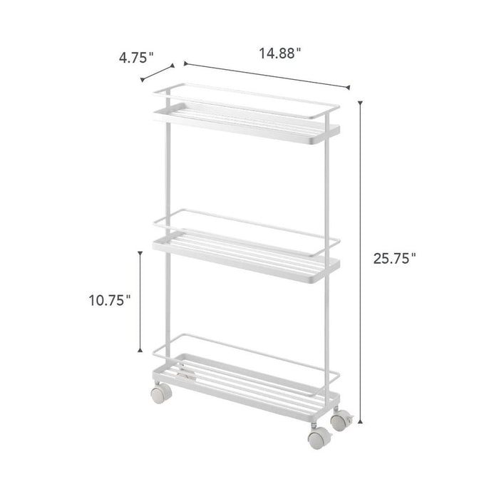 Tower Rolling Kitchen Storage Cart - White
