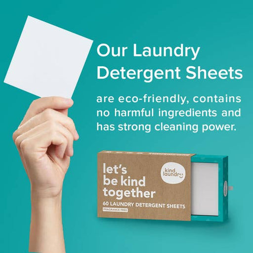 Eco-Friendly & Non-Toxic Laundry Detergent Sheets, 60/Pk