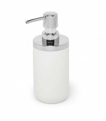 Junip Soap Pump, White/Chrome