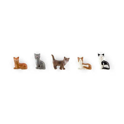 Polyresin Cat Magnets,  5Pk