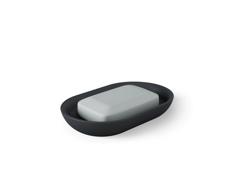 Junip Oval Soap Dish, Black