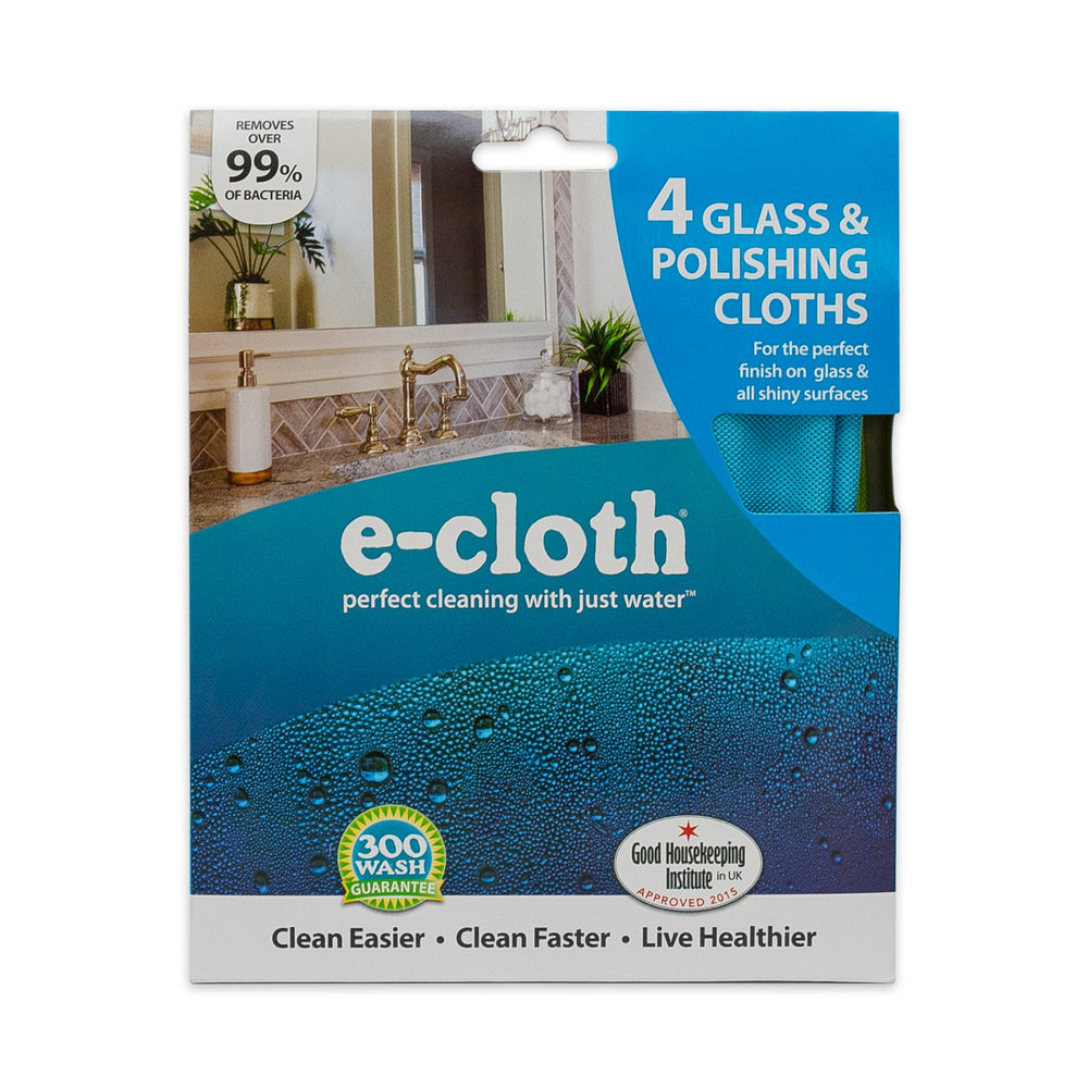 E-Cloth Glass & Polishing Cloth Pack, 4/Pk