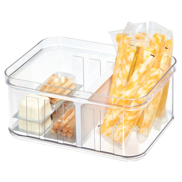 Crisp Small Divided Bin - Clear