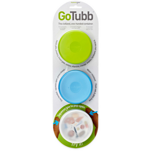 GoTubb, 3 Pack, Large, Clear/Green/Blue, 2 Oz