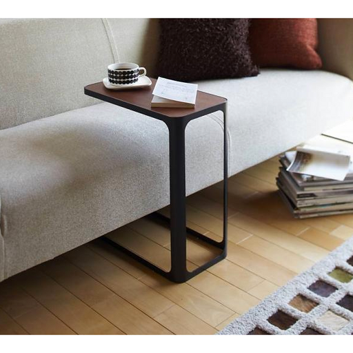 Tower Frame Large Side Table, Black/Wood
