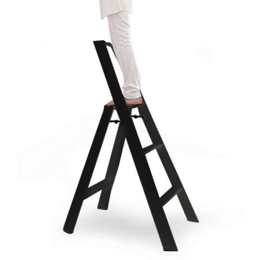 Lucano 3 Step Ladder Black - Neat Space