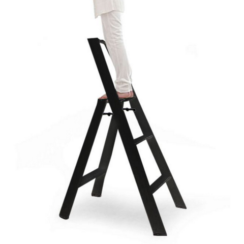 Remarkable Lucano 2 Step Ladder Black Neat Space Caraccident5 Cool Chair Designs And Ideas Caraccident5Info