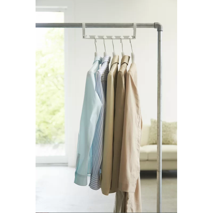 Smart Space Saver Closet Hanger, White - Neat Space