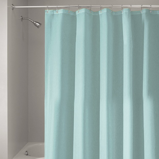 Fabric Shower Curtain, Mint