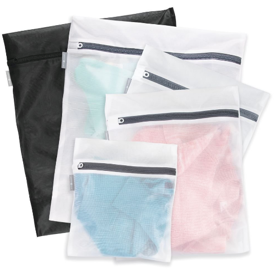 Mesh Wash Bags, Set of 5 - Neat Space