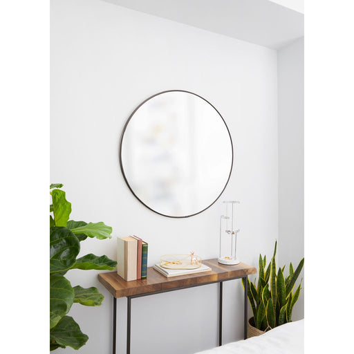 "Hubba Wall Mirror,  34"" - Metallic Titanium"